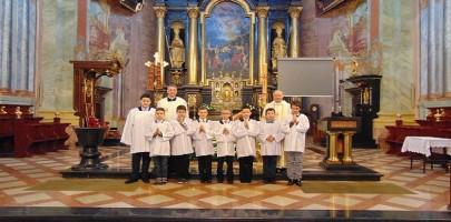 Ustanowienie nowych ministrantów